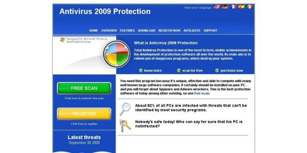Rogueware Antivirus 2009