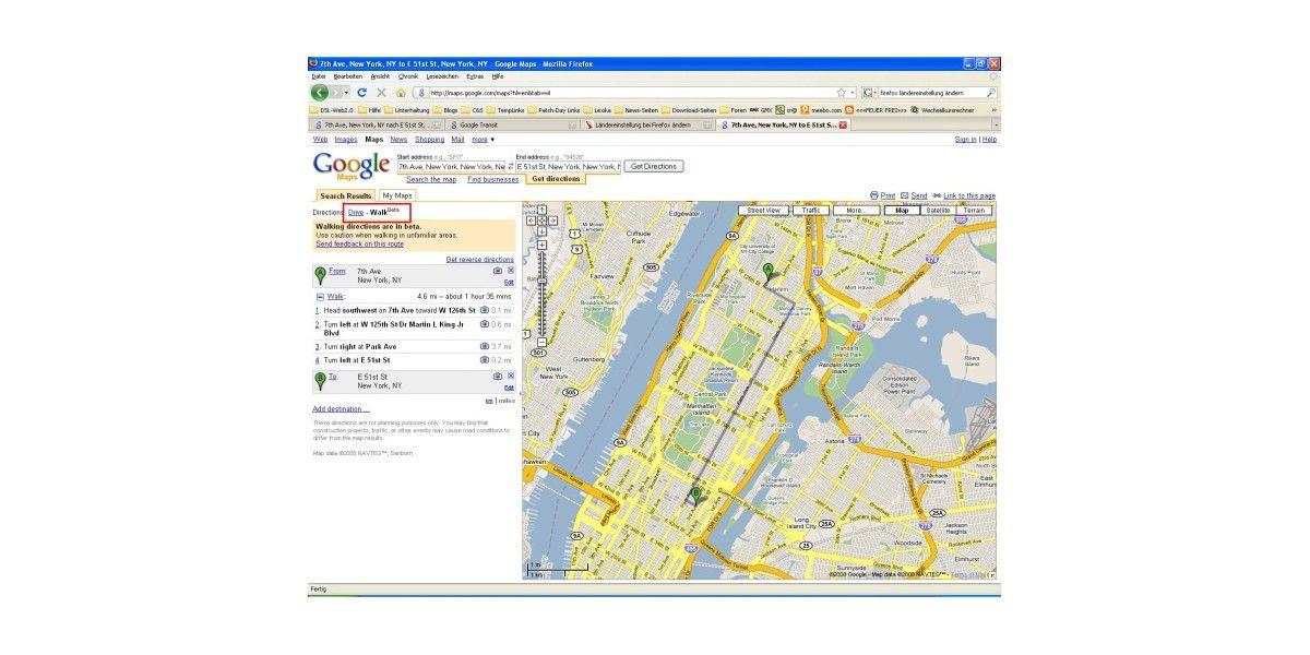 Google Maps Bekommt Fussganger Funktion Pc Welt