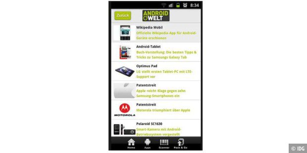 Android-App von AndroidWelt