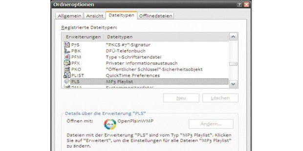 Eine Freeware macht den Windows Media Player fit für reine MP3-Streams.