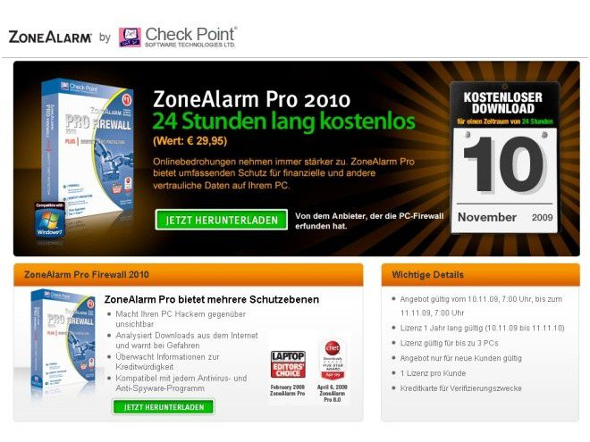 Zonealarm kostenlos windows 7. Zonealarm Pro heute gratis. trackmania 2 can
