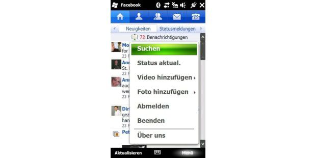Der Facebook-Client für Windows Mobile.