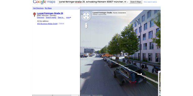 Street View am PC-WELT-Verlagsgebäude in München