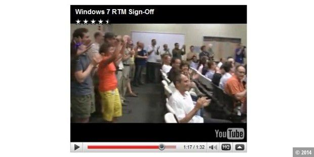 Microsoft feiert Windows 7 RTM (Build 7600)
