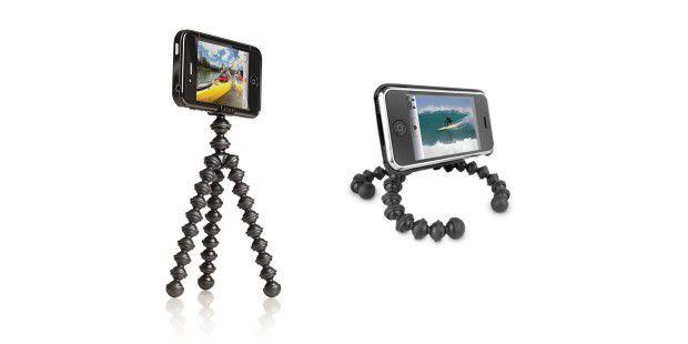 Mit dem Gorillamobile nehmen Sie im Urlaub wackelfreieBilder und Videos auf. Das iPhone können Sie damit auch wie einenkleinen Fernseher nutzen.