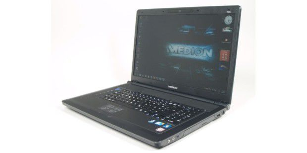 Im Medion Akoya P8614 sitzt ein entspiegelterBildschirm