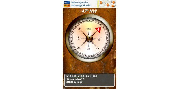 "Android-App ""Compass & Map"""