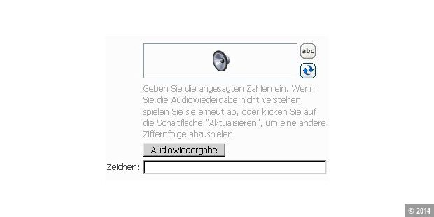 Windows Live ID Audio CAPTCHA