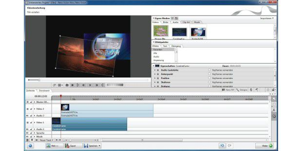 Videoschnitt in Nero Multimedia Suite 10 und Video Premium HD