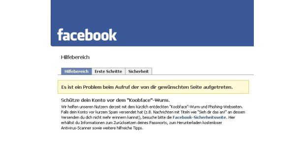 Facebook warnt