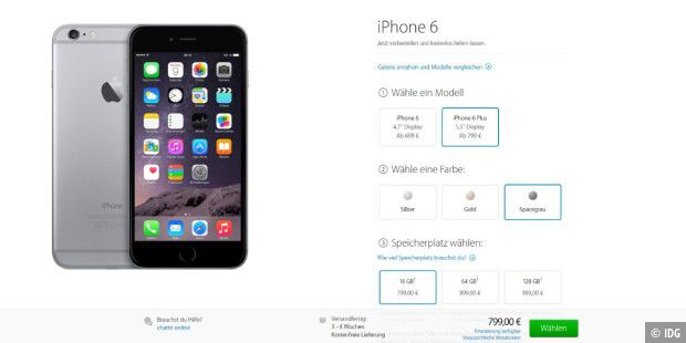 Apple iPhone 6 ab sofort vorbestellbar