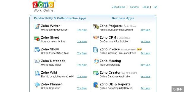 Zoho.com: Alternative zu Google Docs
