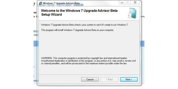 Windows 7 Upgrade Advisor
