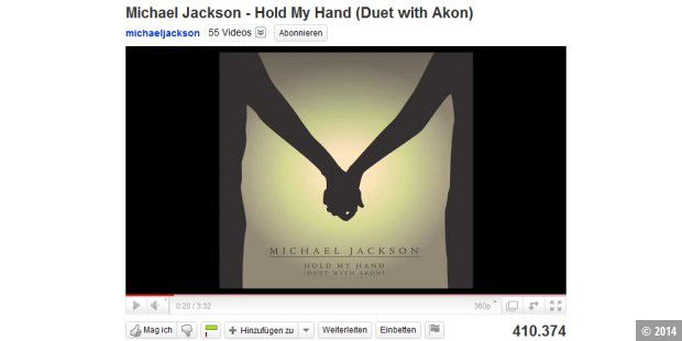 Neuer Michael-Jackson-Song auf Youtube