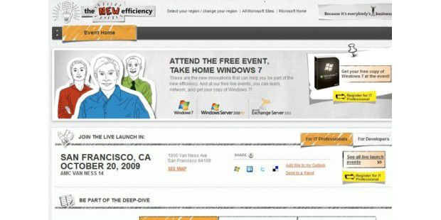 Windows 7 Events in den USA