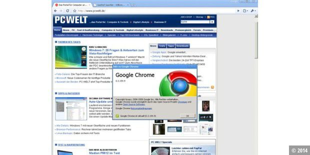 Sicherheits-Update für Google Chrome