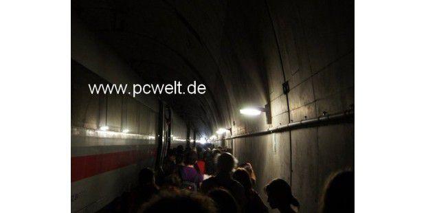 PC-WELT-Redakteur Benjamin Schischka saß im Pannen-Zug - Exklusiv-Foto