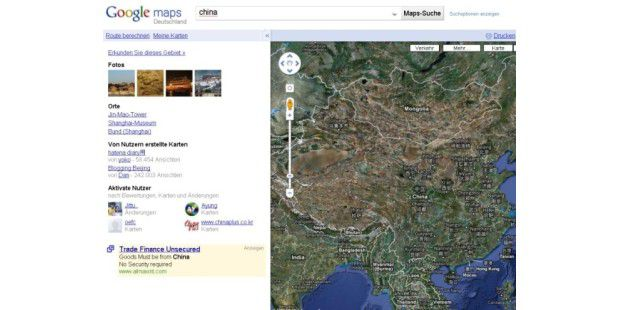 Google Maps droht Ärger in China