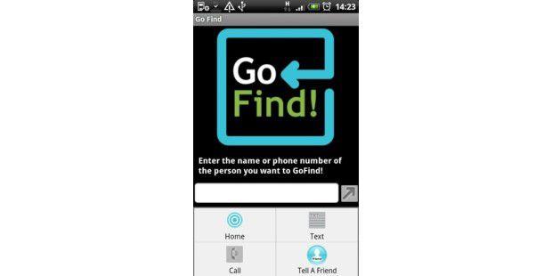 Go Find zeigt, wo sich Kontakte aufhalten - die App nutzt dazu die Position des eigenen Smartphones und die des jeweiligen Kontaktes.