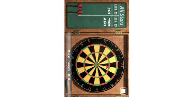 "iPhone-App ""All Star Darts"""