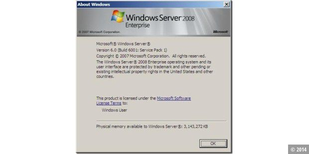 Windows Server 2008 enthält bereits SP1