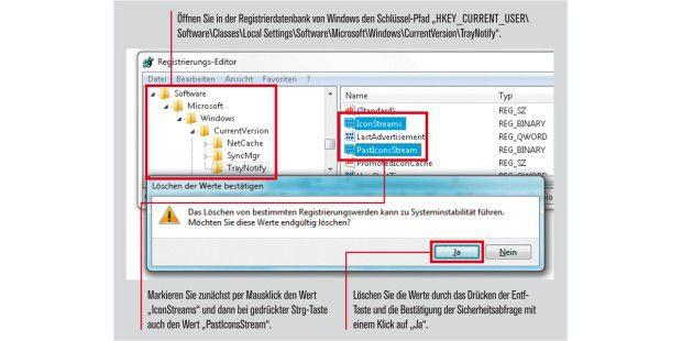 So öffnen Sie in der Registrierdatenbank von Windows denSchlüssel-Pfad.