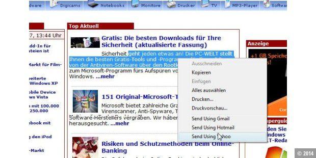 Snip It Website Inhalte Bequem Per Mail Versenden Pc Welt