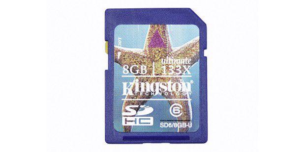 Eine übertaktete SD-Karte, die sich bis zu 20 MB/sauslesen lassen soll.