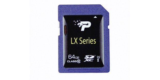 SDXC-Karten bieten in der Regel Kapazitäten ab 64GB