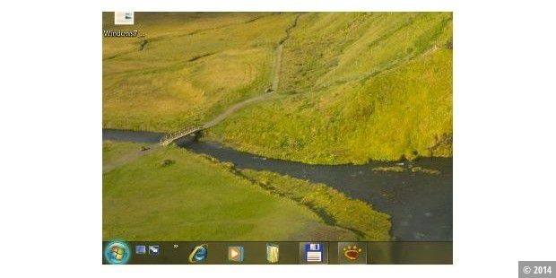 Neue Taskleiste versteckt in Windows 7 Build 6801