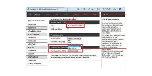 Erschwert Hackern die Arbeit: Ändern Sie den ab Werk voreingestellten Netzwerknamen (SSID) in eine unverfängliche Bezeichnung.