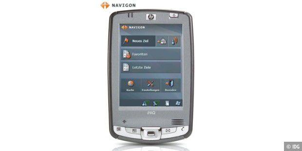 HP iPAQ mit Navigon-Software