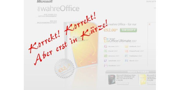 Office 2007 Ultimate für 52 Euro