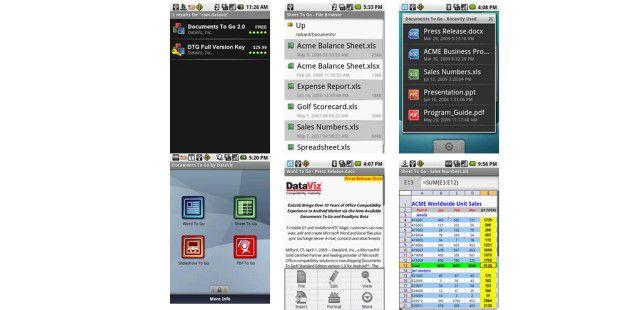 Documents To Go ist eine Office-Suite für Android und andere mobile Betriebssysteme. (Bildquelle: Dataviz)