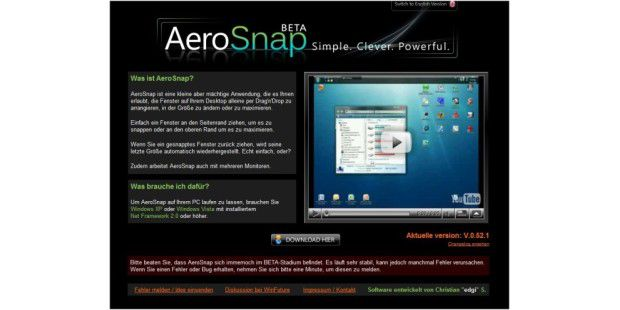 AeroSnap in Aktion