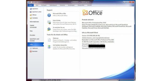 Office 2010 - Screenshots von der finalen Version