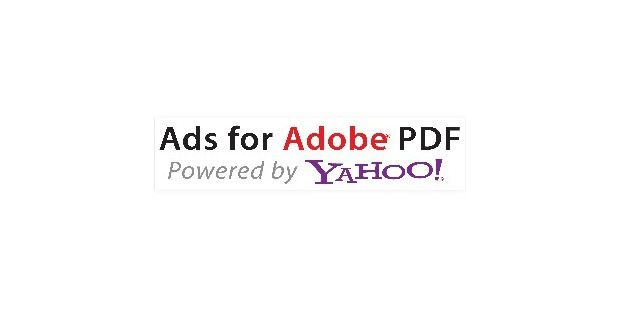 Ads for Adobe PDF powered by Yahoo