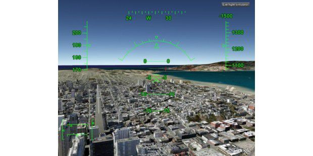 Google Earth Flugsimulator 3D