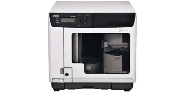 Epson Discproducer PP-100N: Bis zu 30 Medien lassen sich mit dem Gerät pro Stunde produzieren. (Quelle: Epson)
