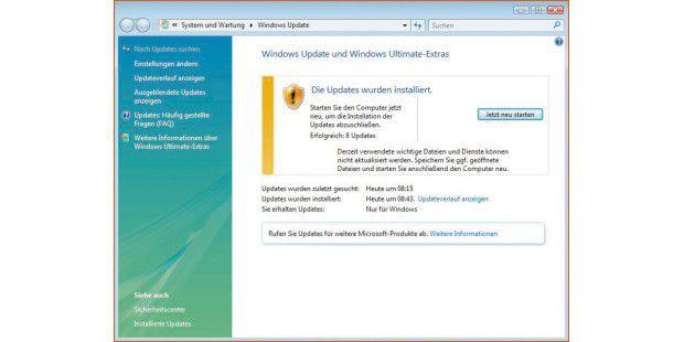 """Nach Klick auf """"Einstellungen ändern"""" imWindws-Update-Fenster lässt sich die manuelle Installation derUpdates festlegen. Die Automatik könnte den Netzwerkbetriebstören."""