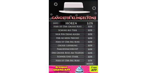 "iPhone-App ""Gangster Klingeltöne"""