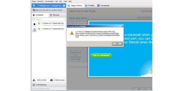 Demo der Skype-Lücke