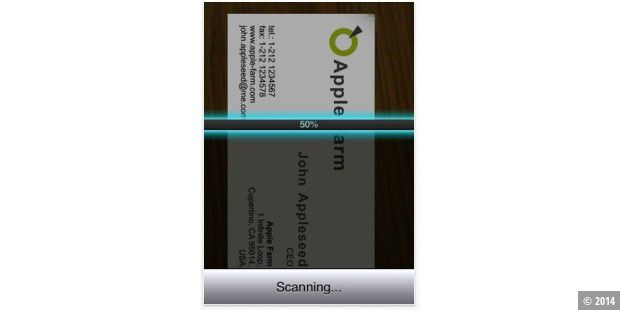 Business Card Reader in Aktion. (Quelle: SHAPE Services)