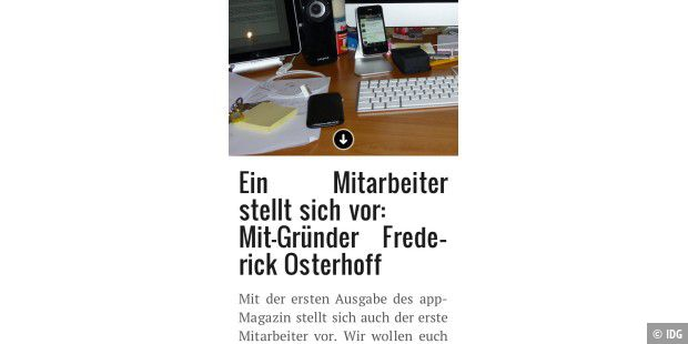 "iPhone-App ""appMagazin"""