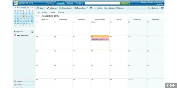 Windows Live Kalender