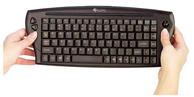 GeneralKeys Kabellose Mini-Tastatur mit Maus-Trackball