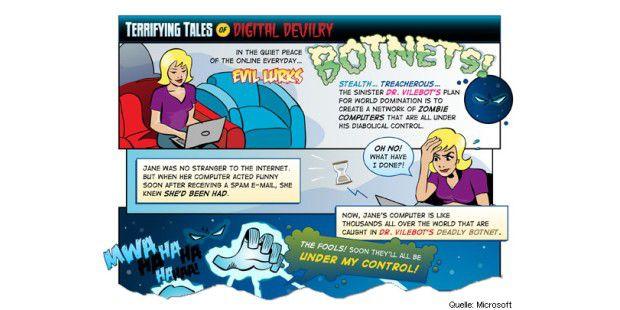 Microsoft Botnetz-Comic