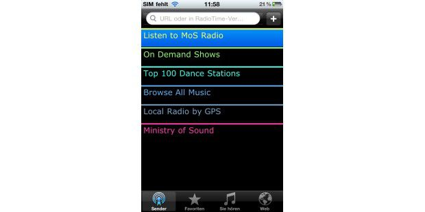 iPhone-App Ministry of Sound Dance Radio
