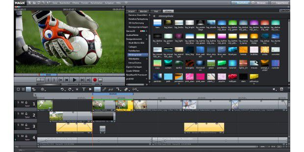 Mit einer großen Auswahl an Hintergründen lassen sichVideos optisch aufpeppen