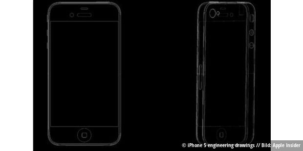 iPhone 5 engineering drawings // Bild: Apple Insider